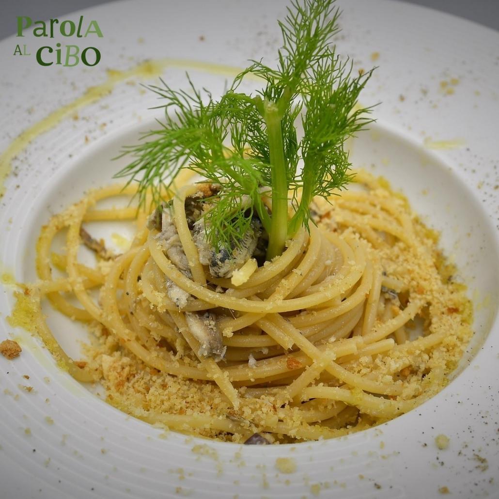 Spaghetti sarde e mollica