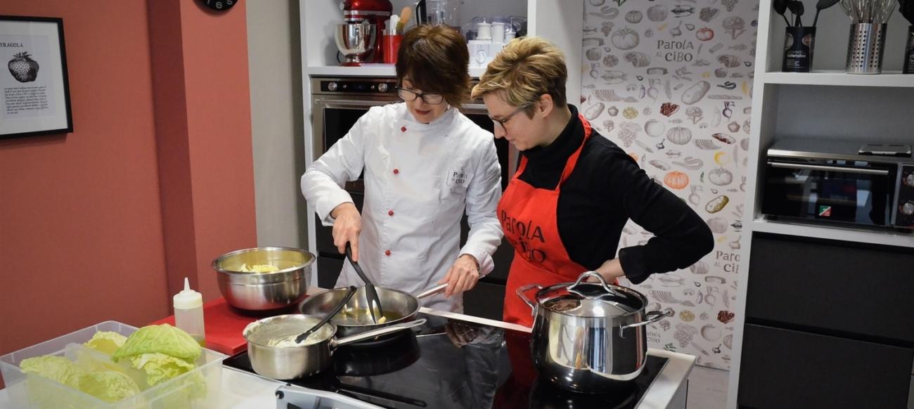 scuola di cucina parola al cibo lezioni individuali