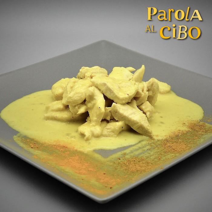 scuola di cucina parola al cibo Straccetti di pollo al curry e curcuma