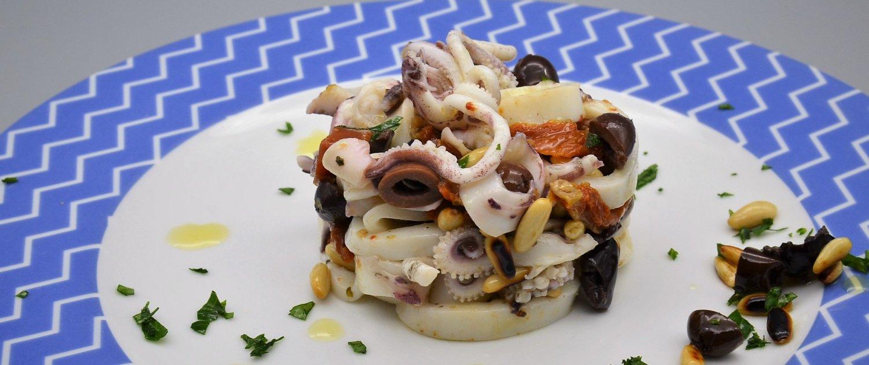 scuola di cucina parola al cibo insalata di mare